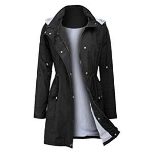 ZEGOLO Women Outdoor Trench Raincoat - Best Raincoats with a Suit: You won't find any defect