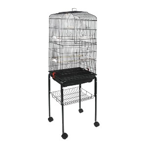 ZENY 59.3'' Bird Cage with Rolling Stand  - Best Bird Cages for Parakeets: Great for multiple birds