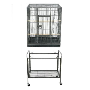 ZENY Bird Cage with Stand Wrought Iron Construction  - Best Bird Cage for Finches: Lasts for ages