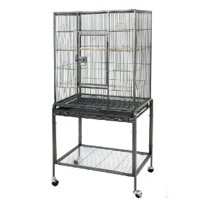 ZENY Bird Cage with Stand Wrought Iron Construction - Best Bird Cages for Parakeets: Extremely durable