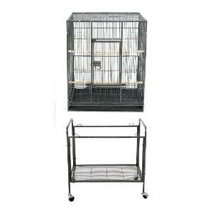 ZENY Bird Cage with Stand Wrought Iron Construction - Best Bird Cages for Conures: Extremely durable