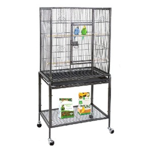 ZENY Bird Cage with Stand Wrought Iron Construction - Best Bird Cage for Cockatiel: Made to last