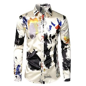 ZEROYAA Men's Luxury Printed  - Best Party Dress for Man: Gives you a luxurious look