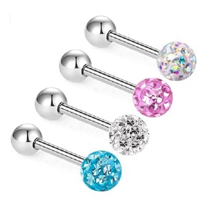 Zhiyaor Anti-allergy Surgical Steel Tongue Rings - Best Jewelry for Tongue Piercing: Extremely smooth finish
