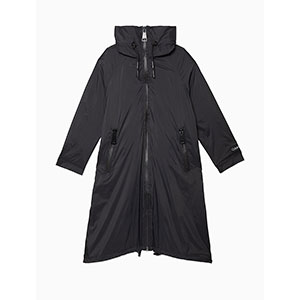 Calvin Klein ZIP HOODED RAINCOAT - Best Rain Jackets For Europe: Long Silhouette Hits Below The Knees