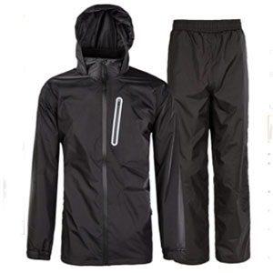 ZITY Waterproof Hooded Rainwear - Best Raincoats for Fishing: Breathable Raincoat