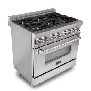 ZLINE 36 in. Professional 4.6 cu. ft. 6 Gas Burner/Electric Oven Range - Best Ranges for Home Chefs: Works like a charm