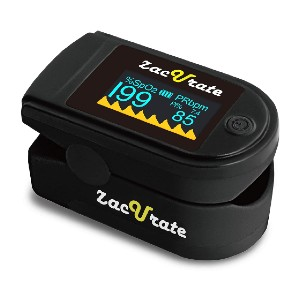 Zacurate 500C Deluxe Pro Series Fingertip Pulse Oximeter - Best Pulse Oximeter with Alarm: Plethysmograph for optimal reading