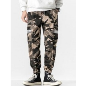 Zaful Letter Side Pocket Cargo Pants - Best Cargo Pants for Men: Cargo Pants with Chic Military Pattern