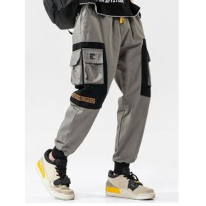 Zaful Two Tone Flap Pockets Drawstring Cargo Pants - Best Cargo Pants Streetwear: Casual Cotton Cargo Pant