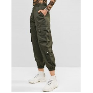 Zaful Pockets Solid Color Cargo Jogger Pants - Best Cargo Pants for Women: Best for Summer Time
