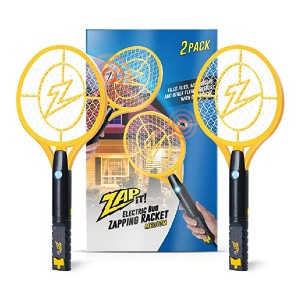 ZAP IT! Bug Zapper Racket - Best Bug Zapper for Mosquitoes: Simple and safe
