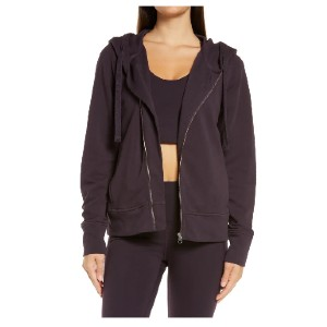 ZELLA West Coast Asymmetrical Zip Hoodie - Best Hoodies for Women: Banded Cuffs and Hem