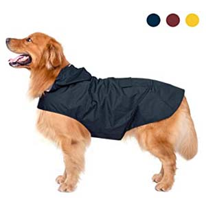 Zellar Dog Raincoat with Hood - Best Raincoats for Big Dogs: Lightweight and easy to clean