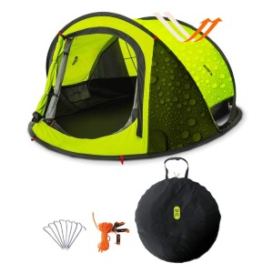 Zenph Automatic 2-3 Persons Family Camping Tent - Best Easy Set Up Tents: B3 gauze Material for Great Ventilation