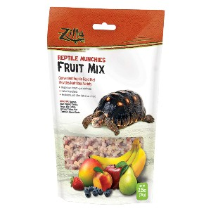 Zilla Reptile Munchies Mix Treat - Best Baby Turtle Food: Sweet Freeze-Dried Treat