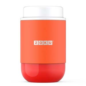 Zoku Food Jar Orange 473ml - Best Food Storage Container: Maintains your food's freshness and temperature