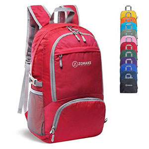 Zomake Lightweight Packable Backpack - Best Backpack for Travel: Lightweight and foldable extra pack