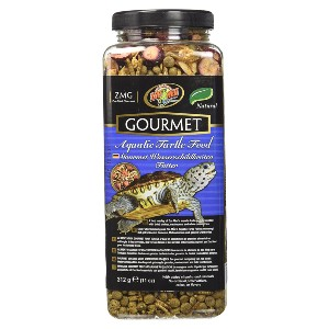 Zoo Med Gourmet Aquatic Turtle Food - Best Baby Turtle Food: Mealworms and Dried Shrimp Formulation