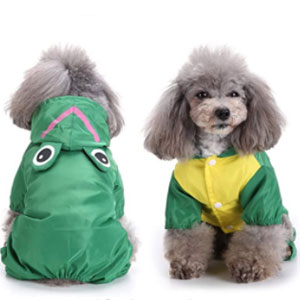 Zunea Waterproof Mesh Lined Rainwear - Best Raincoats for Dogs: Raincoat with D Ring for Harness Leash