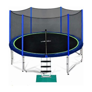 Zupapa 12FT Trampoline with Safety Enclosure Net  - Best Trampoline for Teenagers: Unmatched safety