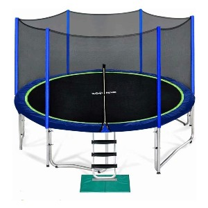 Zupapa 12 FT Trampoline for Kids  - Best Trampoline with Net: Exceed ASTM and TUV standards