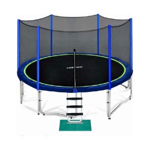 Zupapa 12 FT Trampoline for Kids with Safety Enclosure Net  - Best Trampoline Backyard: No-gap design