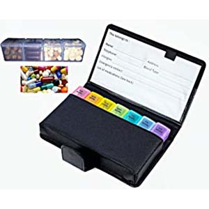 ZzTeck Daily Pill Organizer AM PM - Best Pill Dispensers for Seniors: Perfect gift for anyone taking daily medications