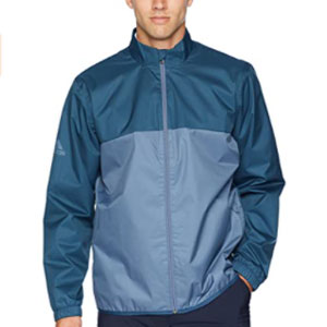 adidas Store Golf Men's Climastorm Provisional Rain Jackets - Best Raincoats for Golf: The full zip with a mock neck