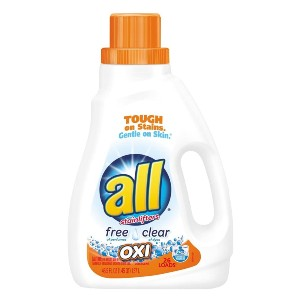 All Liquid Laundry Detergent with OXI Stain Removers and Whiteners - Best Laundry Detergents for Hard Water: Fabric Softener Detergent