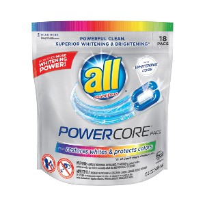All Powercore Pacs Laundry Detergent - Best Laundry Detergents to Keep Colors from Fading: Odor Remover