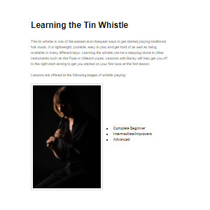 Becky Taylor Learning the Tin Whistle - Best Online Tin Whistle Lessons: Let's playing traditional folk music