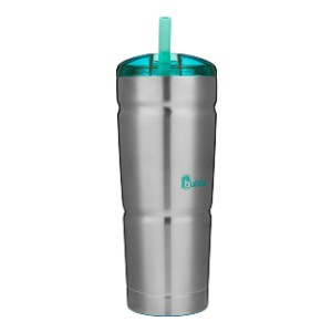Bubba Straw Envy Vacuum-Insulated Stainless Steel Tumbler - Best Tumbler for Iced Coffee: Spill-proof lid tumbler