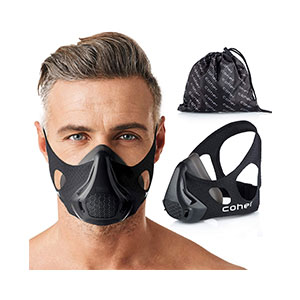 coher Training Mask Workout 24 Breathing Resistance Levels - Best Masks for Working Out: Compatible with All Types of Training,