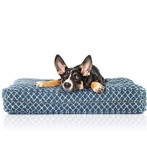 eLuxury Stain Repellant Orthopedic Pillow Dog Bed - Best Dog Beds for Large Dogs: A Thick Dog Bed