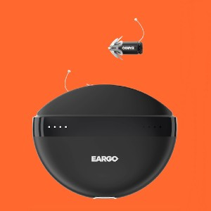 Eargo 5 - Best Hearing Aid with Bluetooth: Bluetooth charging case
