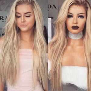 Everyday Wigs edw2055 - Best Human Hair Wigs for Caucasian: Ombre Blonde Long Human Hair Lace Wig