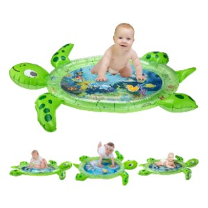 Gebra Inflatable Tummy Time Water Mat Sea Turtle Shape - Best Playmat for Tummy Time: No water leak problem
