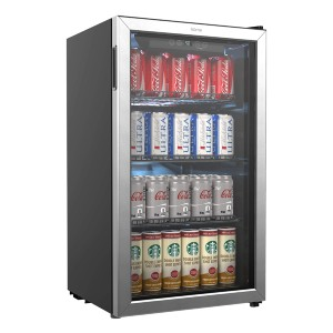 hOmeLabs Beverage Refrigerator and Cooler - Best Refrigerator for Basement: Compact size, large space