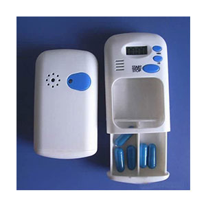 hoxin White LCD Digital Pill Box Medication Timer - Best Pill Boxes with Alarm: Loud Alarm Beeps