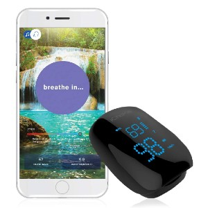 iChoice Relaxation Coach Smart Pulse Oximeter  - Best Pulse Oximeter with Bluetooth: Your relaxation coach