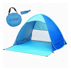 iCorer Instant Cabana Sun Shelter - Best Beach Tents for Wind: 50+ UPF Tent