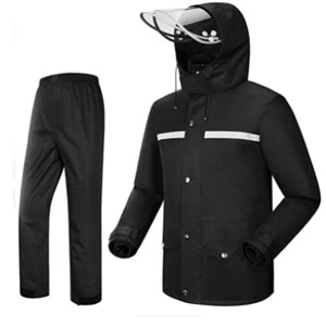 iCreek Rain Suit Jacket & Trouser - Best Raincoat for Boating: Raincoat with Air Flow Holes