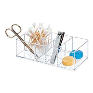 iDesign Bathroom Vanity Divided Organizer - Best Bathroom Organizer: There are no hidden items
