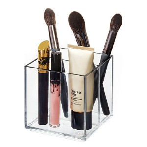 iDesign Onyx Cosmetic Cube - Best Makeup Brush Holder: Durable Holder