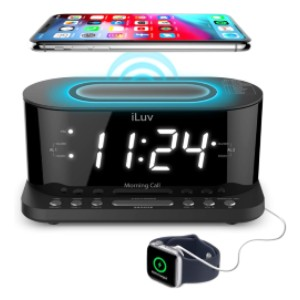 iLuv Morning Call 5 - Best Alarm Clock for Bedroom: Radio Alarm Clock with 10 Presets