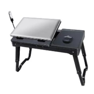iMounTEK Multi-functional Laptop Table Stand - Best Laptop Stand for Bed: 3 LED Lamp and Folding Table