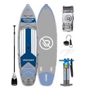 iROCKER Cruiser Inflatable Stand Up Paddle Board - Best Paddle Boards for Lakes: Convenient Inflatable Paddle Board