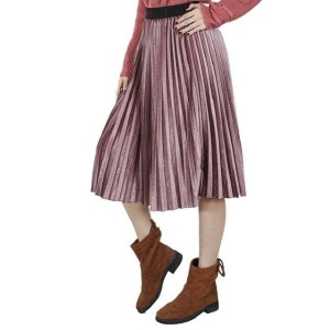 Indoz Style Women's Colorful Pleated Skirt - Best Skirts for Pear Shape: For Summer Fashion