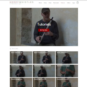 Kerry Whistles Tin Whistle Tutorials - Best Online Tin Whistle Lessons: Free Charge Tutorials